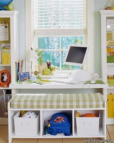 Help your child stay #organized and  successful this school year with these at-home study spaces