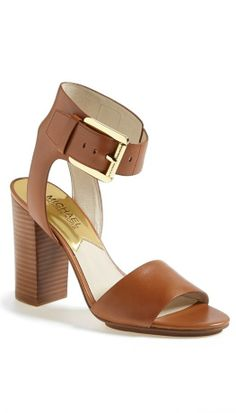 Bold ankle strap + boxy, stacked heel = Yes!