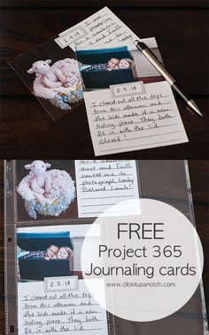 Free project 365 journaling cards