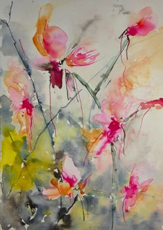 "Saatchi Online Artist: Karin Johannesson; Watercolor, 2013, Painting ""Orchidaceae"""