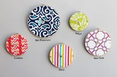 Turn an Embroidery Hoop into a Clock via Brit + Co.