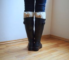 PDF crochet pattern bow Boot cuff,  leg warmers short chunky socks knit look - DIY tutorial - Quick and easy gift on Etsy, $4.90
