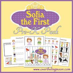Free Printable Sofia the First Pre K Pack