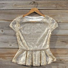 Gold Dust Peplum Blouse