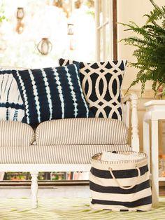 Springtime decorating idea? Think stripes.