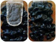 Deep Wave Lace Closure. Give your top area a break and use a closure for flawless blending and protection of your hair.