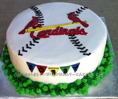 Coolest Cardinals Baseball Cake... This website is the Pinterest of birthday cake ideas