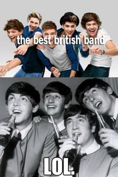 Sorry, but there will never be a boy band cuter than the Beatles. so true