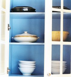 more shelves with different colored backgrounds