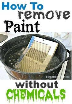 Paint Tip:: how to remove (60 year old!) paint with no chemicals.