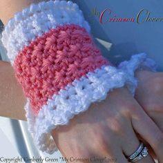 "Crochet Wrist Warmers ""Star Stitch Wrist Warmers"" by Kimberly Green. @seeherknit"
