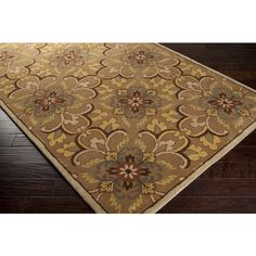 3x5 Arts Crafts Mission Style William Morris Beige Brown Rust Wool Area Rug | eBay
