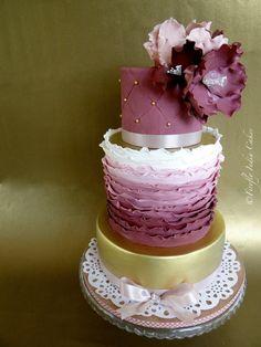 Midas & Mauve - by FireflyIndia @ CakesDecor.com - cake decorating website