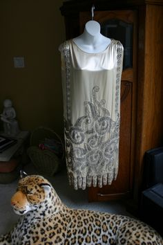 French Art Deco 1920's Beaded Flapper Party Dress - Rare and Wonderful!