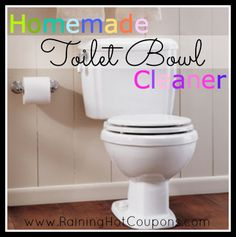 Homemade Vinegar Toilet Cleaner One Cup White Vinegar Half a cup of baking soda 5-15 drops of tea tree oil Just combine all in the toilet and let fizz for about 15 minutes. Come back and scrub with a toilet brush, and watch your toilet sparkle!