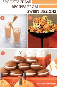 Sweet Designs Halloween Recipes Amy Atlas