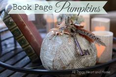 Book-Page-Pumpkins... #fall #pumpkins #Decoart