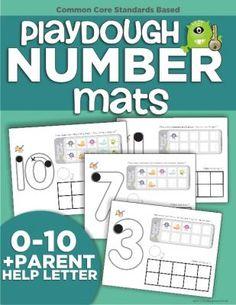 Playdough Number Mats from KindergartenWorks on TeachersNotebook.com -  (12 pages)