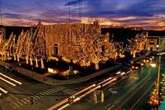 Holiday Lights along Main Street in downtown Jonesboro, AR.