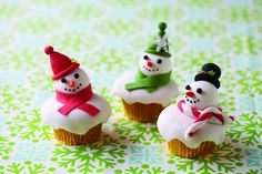 Snowman cupcakes-no directions or recipe, just the idea.