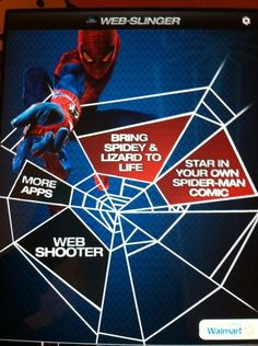 The new Web-slinger application activated at Walmart with signs. Lets you create a comic book
