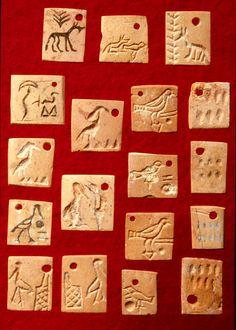 Inscribed labels, tomb U-j, 3300 aC