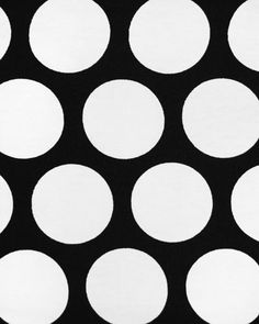 classic black and white polka dots for stools