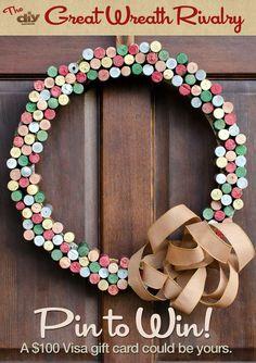 Cork Christmas Wreath!