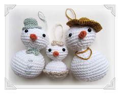 Patrón: Baby Snowflake / Pattern: Baby Snowflake (snowman)