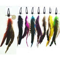 feather hair clips
