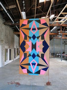 """""""Quivira"""" (one of Corononado's 7 Cities of Gold that he mistakenly thought was in and around Salina) banner from the Warehouse Residency. You can see it in person at the David B. Smith Gallery in Denver August 3 - September 1, 2012."""