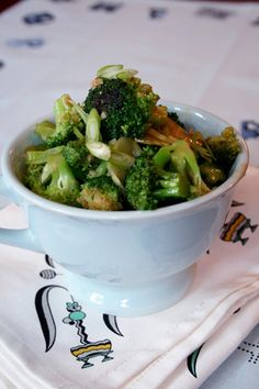 Broccoli with garlic sauce.
