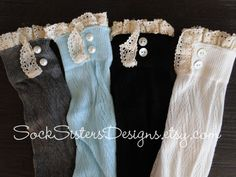 Boot socks listing at https://www.etsy.com/listing/158014091/boot-socks-with-lace-knee-high-boot