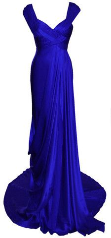 Cleo Gown Sapphire by DINA BAR-EL