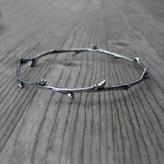Twig Bracelet Sterling Silver Bangle Ready to by KristinCoffin