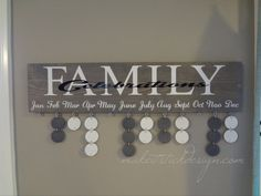 Grey Stained Family Celebrations/Birthday Board Wall Hanging