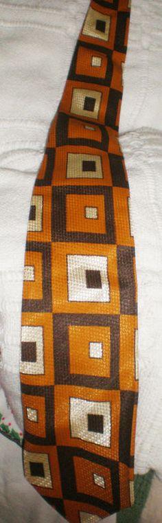 Men's Vintage Mid Century Fabric Necktie in by NeldaMaesCloset, $7.50