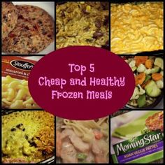 College is so busy sometimes you need to do a fast meal. Check out our Top 5 Cheap and Healthy Frozen Meals!
