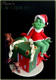Grinch Cake by Pam's Cake Creations (12/25/2012)  View details here: cakesdecor.com/...