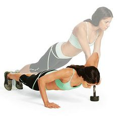 Burn Fat Faster with Weights: Side-to-Side Push-Up