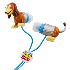 Really want these coming out of my ears - Toy Story Slinky Dog Ear Buds. SO cute!