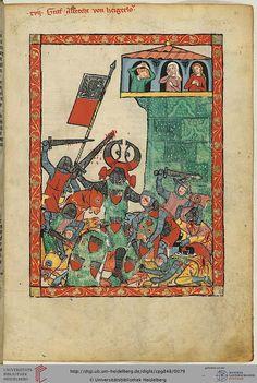 Codex Manesse, Graf Albrecht von Heigerloch, Fol 42r, c. 1304-1340