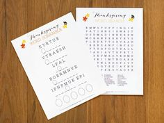 thanksgiving activities, word games, decorating ideas, fall fun, thanksgiving kids crafts, thanksgiv kid, kid crafts, printabl, craft rooms