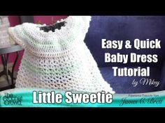 Crochet Little Sweetie Crochet Dress - YouTube