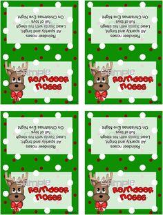 reindeer noses printable MEMES