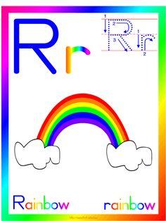 RAINBOW THEME printable activities and crafts suitable for preschool and Kindergarten.