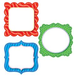 """Rainbow Classy Cards 6"""" Designer Cut-Outs are new to CTP and great to organize your classroom!"""
