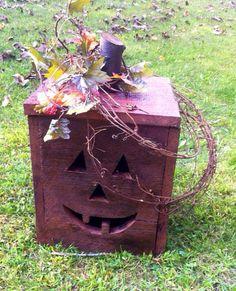 "14x10"" barn wood pumpkin on Etsy, $35.00"