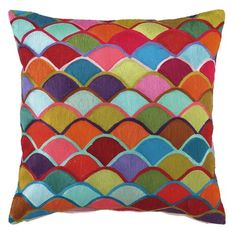 I pinned this Colorful Fans Pillow from the On the Bright Side event at Joss and Main!