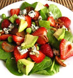Strawberry and Avocado Spinach Salad